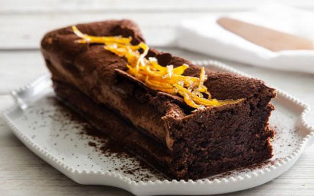 cake fondant au chocolat et à l'orange au Thermomix,