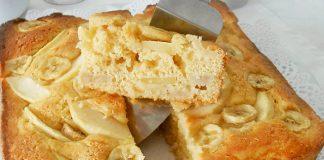 Gâteau Léger aux Pommes et aux Bananes WW