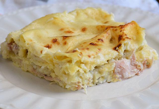 Lasagnes légères au Chou Fleur et au jambon WW