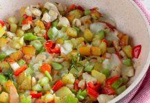 Poêlée Mijotée de Poulet aux Légumes WW