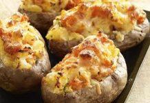 pommes de terre farcies au saumon WW