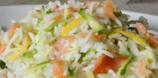 riz au saumon / courgettes et citron WW