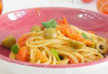 spaghettis aux tomates cerises et olives vertes WW