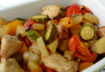 poulet aux légumes au four WW