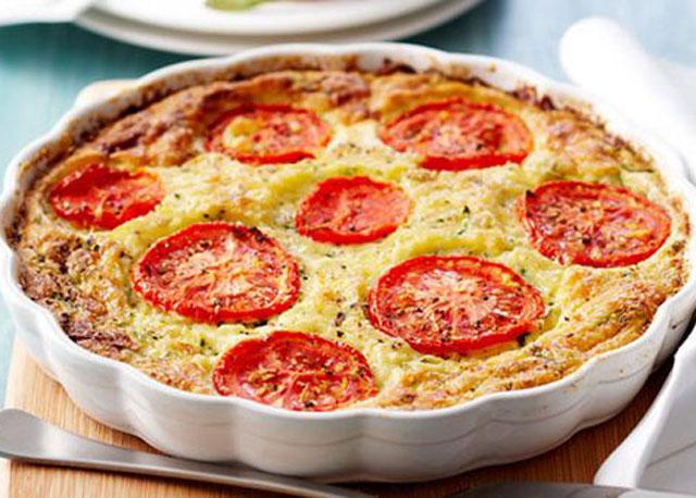 Quiche Sans Pâte au Thon et aux Tomates WW