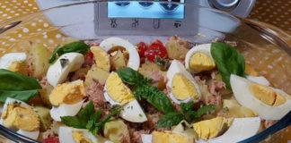 salade de pomme de terre au thon et aux œufs au Thermomix